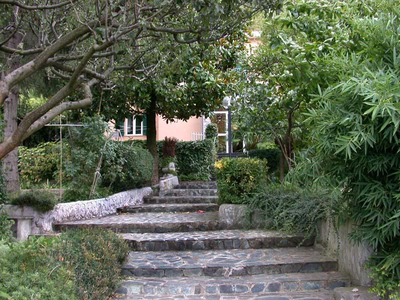 Il viale principale del giardino